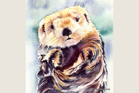 Sea Otter totem animal note card