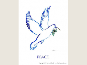 Peace Dove Christmas Cards Set