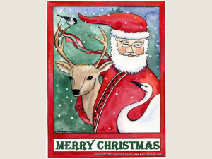 Santa and Friends Christmas Cards Set