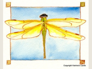Dragonfly Notecard Gift Set