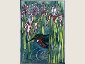 Wild Iris and Green Heron NoteCard Gift Set
