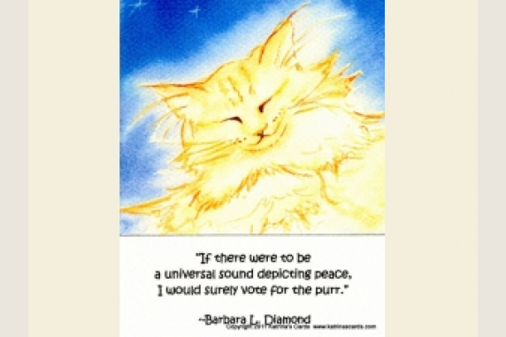 Ginger Cat Art with peace quote