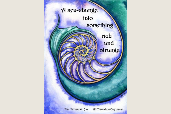 A Sea Change Tempest Shakespeare Quote card