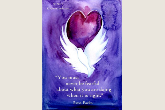 """""""when it is right"""" Rosa Parks' quote card"""