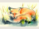 Red Fox totem animal note card