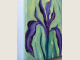 shows painted edges of Iris oil painting on canvas