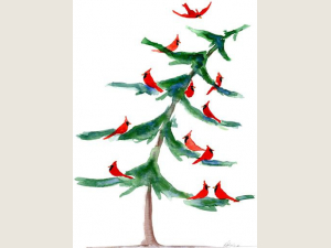 Cardinal Tree Christmas Cards Gift Set