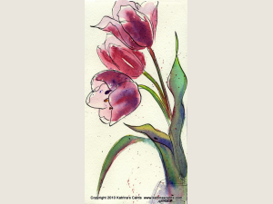 Note Cards Tulips 5 Cards and Envelopes Gift Pack