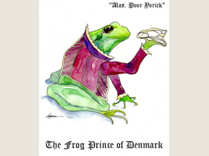 Frog Prince of Denmark Bard pun Shakespeare quote card