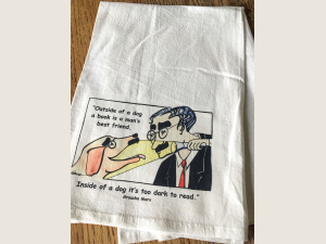 Groucho art and quote Kitchen towel