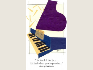 Blue Piano Gershwin quote Life is a lot like jazz note card