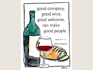 Good Comapny Good Wine   Shakespeare Quote 6 Note Card Gift Set