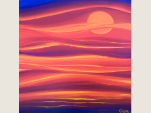 """""""Sunset Waters"""" original oil painting by Katrina Meister"""